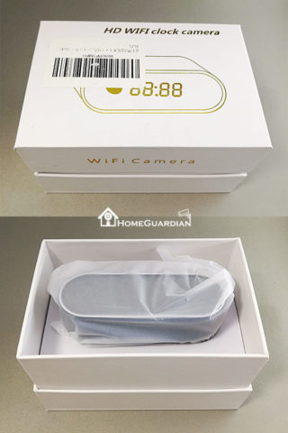 HD WIFI clock cameraのパッケージ