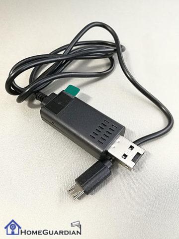 USB充電ケーブル型カメラ