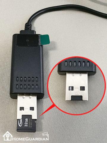 microSDカード挿入
