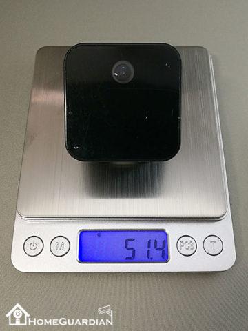 USB充電ACアダプター型カメラの重さ