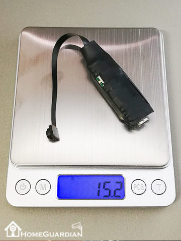 重さは15.2g