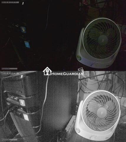 赤外線ライト照射画像