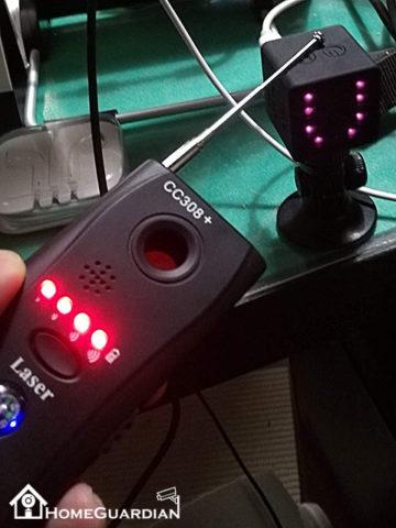 無線カメラの検知